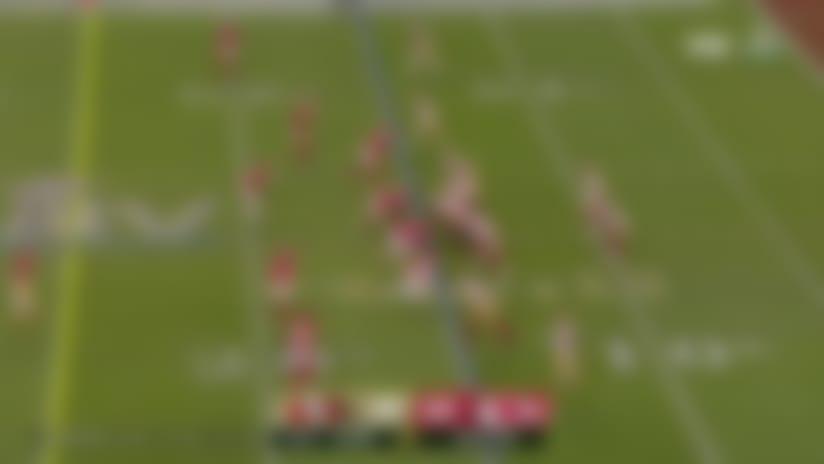 Raheem Mostert bursts through Chiefs' defense for 17 yards