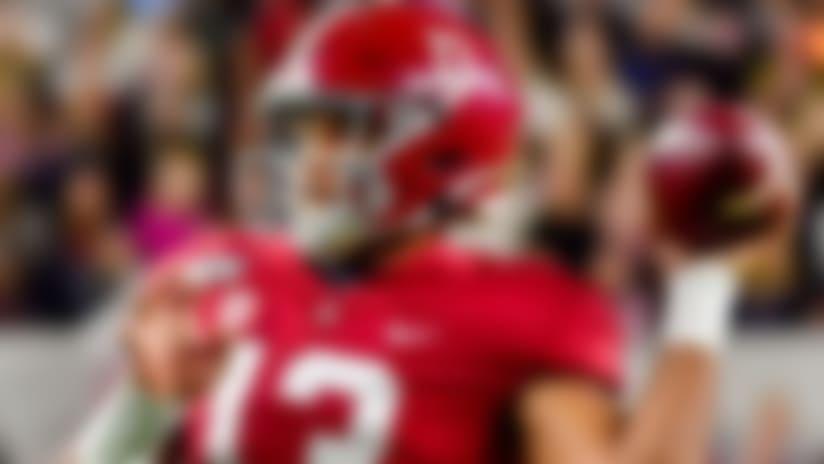 Alabama quarterback Tua Tagovailoa in an NCAA football game Saturday, Nov. 9, 2019, in Tuscaloosa, Ala. (AP Photo/Vasha Hunt)