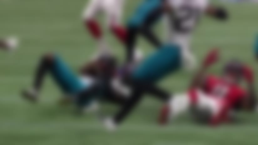 Jarrod Wilson jumps in front of Jones for Jags' second INT