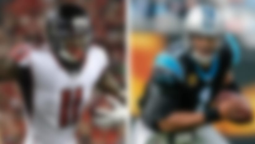 Julio Jones and Cam Newton