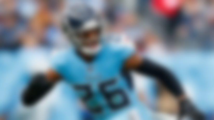 Tennessee Titans defensive back Logan Ryan (26) runs to the play during an NFL football game against the Houston Texans, Sunday, Dec. 15, 2019, in Nashville, Tenn. The Texans beat the Titans 24-21. (Matt Patterson via AP)