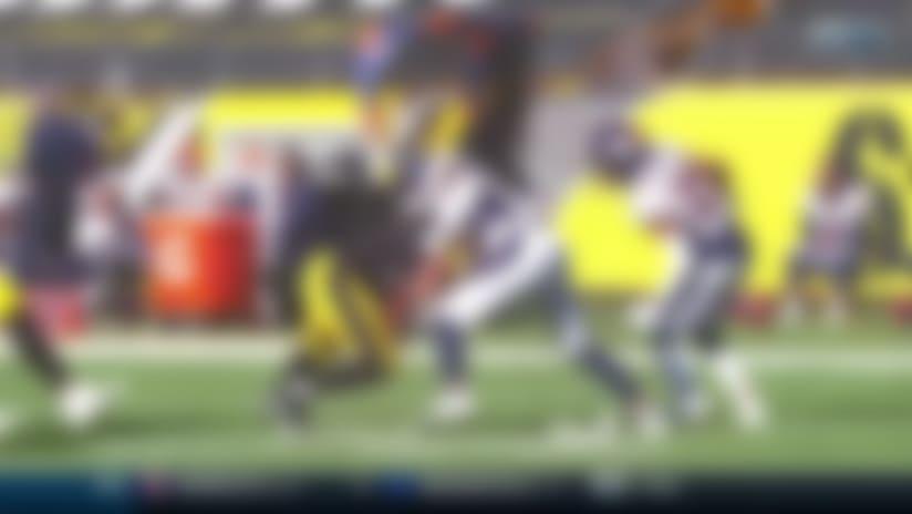 James Conner rushes for a 59-yard Gain vs. Denver Broncos