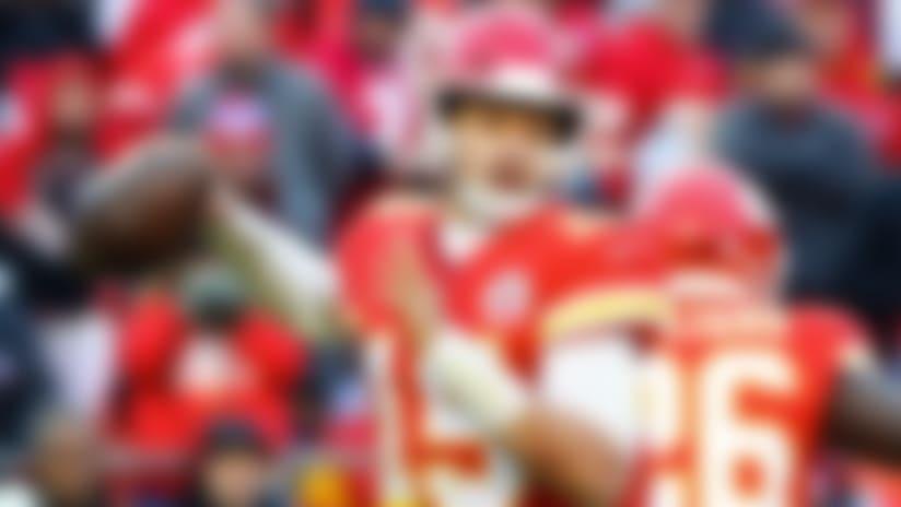 Dec 9, 2018; Kansas City, MO, USA; Kansas City Chiefs quarterback Patrick Mahomes (15) throws a pass against the Baltimore Ravens at Arrowhead Stadium. Mandatory Credit: Jay Biggerstaff-USA TODAY Sports