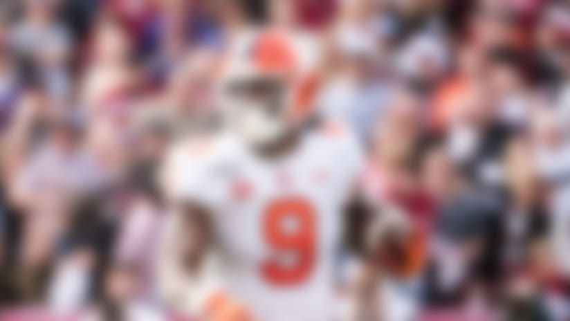 Clemson running back Travis Etienne is the Atlantic Coast Conference's all-time career leader in rushing touchdowns (56) and total touchdowns (62).