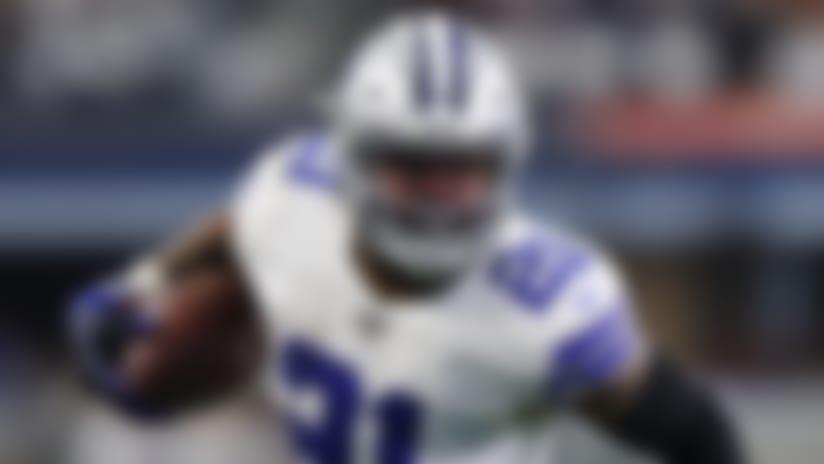Dallas Cowboys running back Ezekiel Elliott (21) carries the ball during an NFL football game against the Washington Redskins, Sunday, Dec. 29, 2019, in Arlington, Texas. The Cowboys beat the Redskins 47-16. (Matt Patterson via AP)