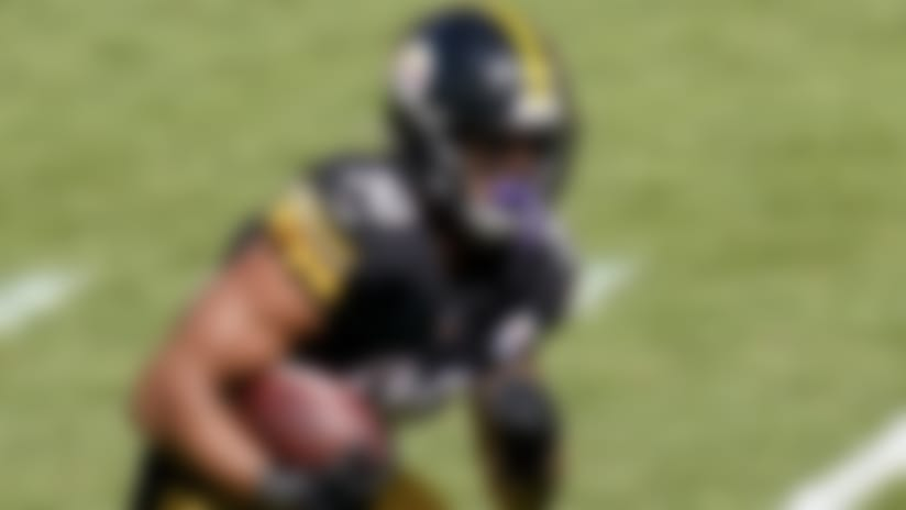 Pittsburgh Steelers running back James Conner (30) plays against the Denver Broncos during an NFL football game, Sunday, Sept. 20, 2020, in Pittsburgh. (AP Photo/Keith Srakocic)