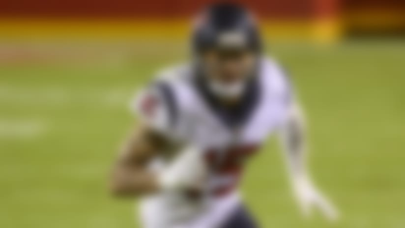 Houston Texans wide receiver Will Fuller V (15) during an NFL football game against the Kansas City Chiefs, Thursday, Sept. 10, 2020, in Kansas City, Mo. (AP Photo/Reed Hoffmann)