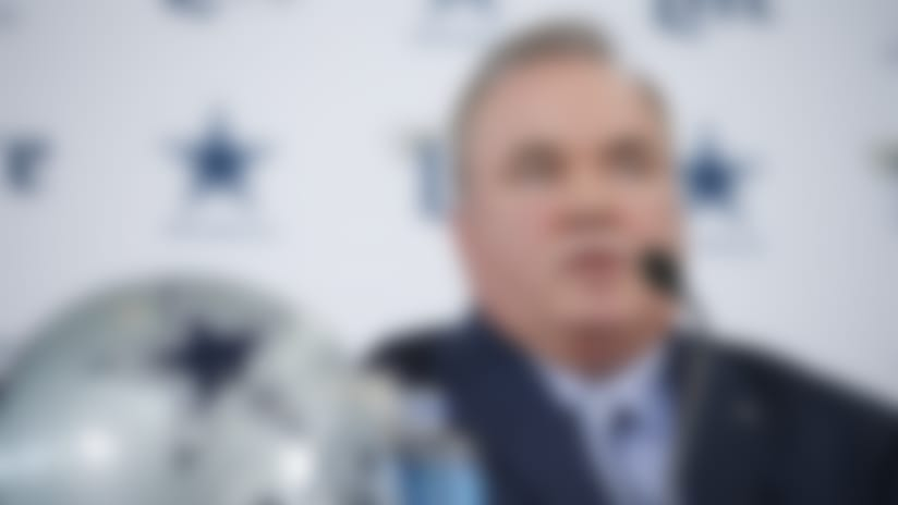 New Dallas Cowboys head coach Mike McCarthy is introduced during a press conference at the Dallas Cowboys headquarters Wednesday, Jan. 8, 2020, in Frisco, Texas. (AP Photo/Brandon Wade)
