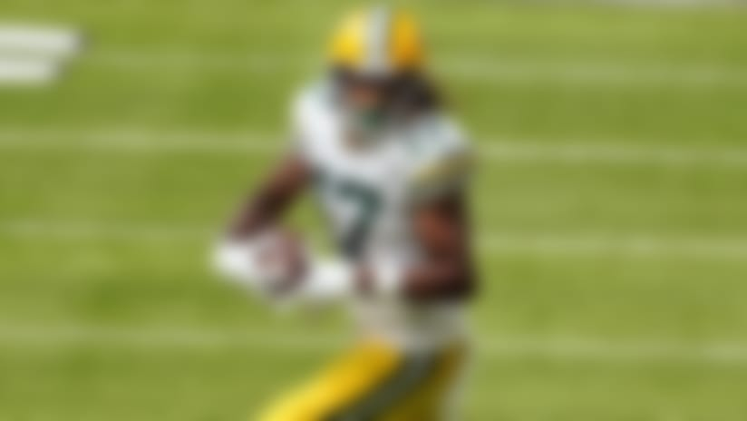Green Bay Packers wide receiver Davante Adams (17) carries the ball in the first half of an NFL football game, against the Minnesota Vikings, Sunday, Sept. 13, 2020, in Minneapolis. (AP Photo/Jim Mone)