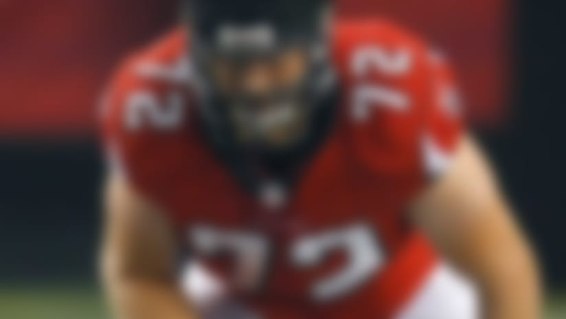 Falcons release Sam Baker; Justin Blalock retires