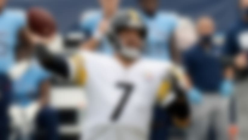 Pittsburgh Steelers quarterback Ben Roethlisberger plays against the Tennessee Titans in the first half of an NFL football game Sunday, Oct. 25, 2020, in Nashville, Tenn. (AP Photo/Mark Zaleski)