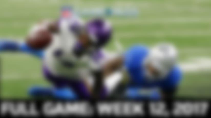 Full NFL Game: Vikings vs. Lions - Week 12, 2017 | NFL Game Pass
