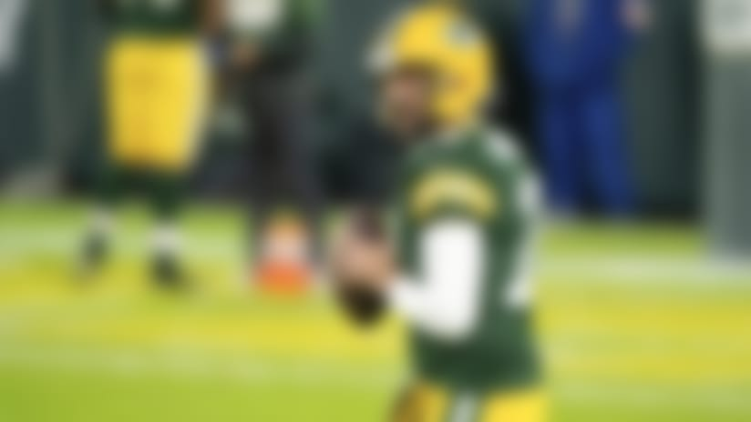 Green Bay Packers quarterback Aaron Rodgers (12) warms up on the field prior to an NFL football game against the Chicago Bears, Sunday, November 29 in Green Bay, Wis. (Todd Rosenberg via AP)