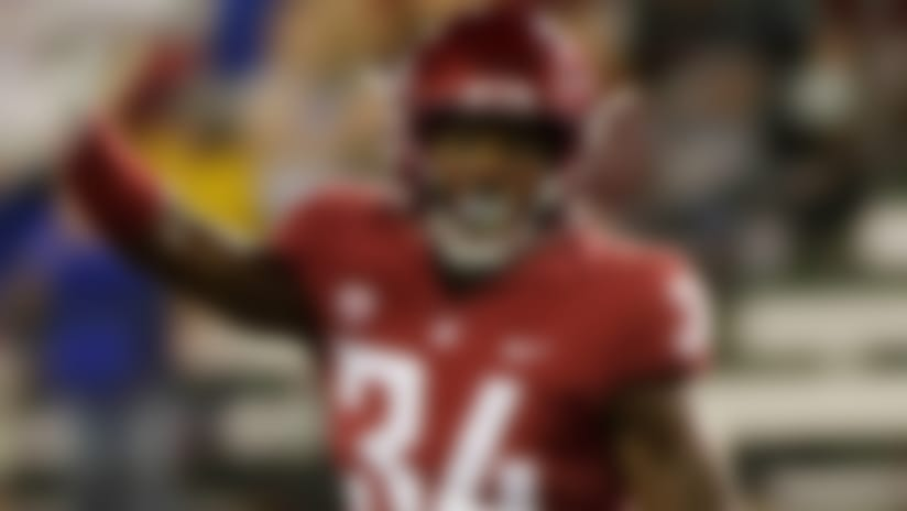 Washington State safety Jalen Thompson (34) runs on the field during the second half of an NCAA college football game against Boise State in Pullman, Wash., Saturday, Sept. 9, 2017. (AP Photo/Young Kwak)