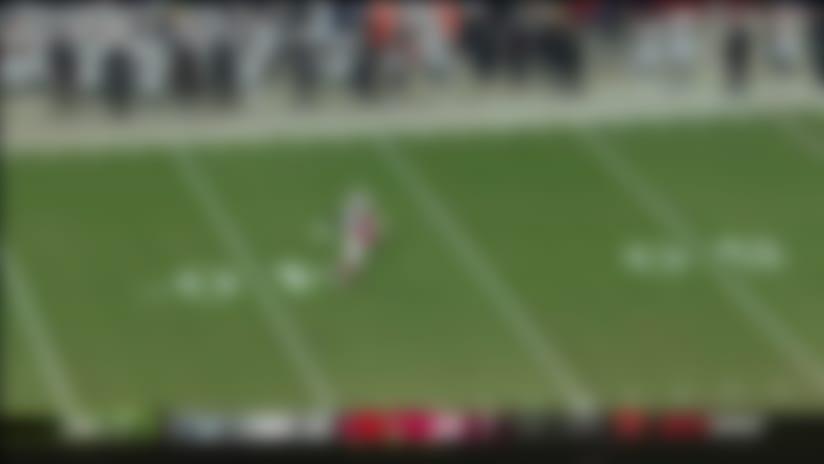 Keelan Doss adjusts to make 20-yard catch