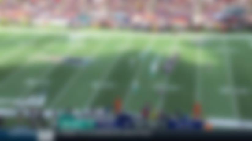 Rex Burkhead jukes defenders on 14-yard rush