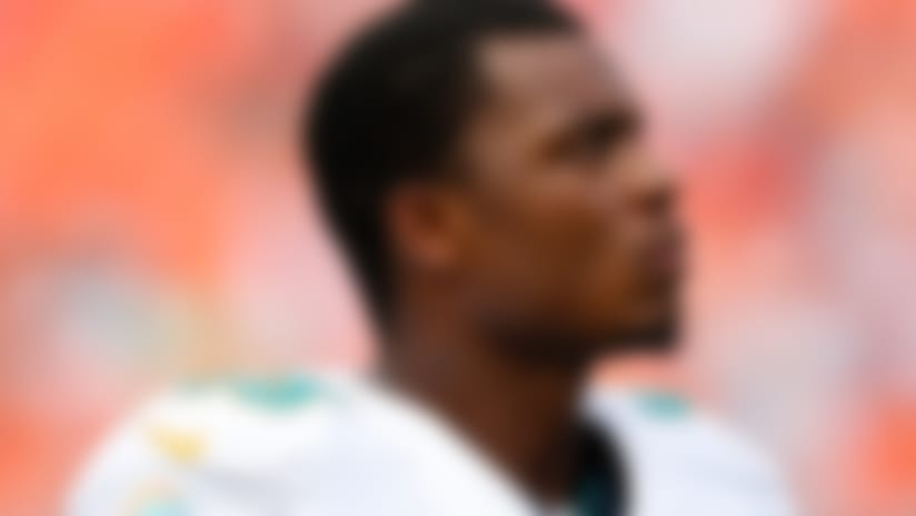 Miami Dolphins rookie defensive end Dion Jordan (95) looks on during an NFL football game against the Baltimore Ravens at Sun Life Stadium on Sunday October 6, 2013 in Miami Gardens, Florida. Baltimore won 26-23. (AP Photo/Aaron M. Sprecher)