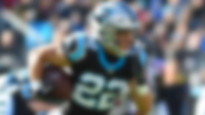 Dec 23, 2018; Charlotte, NC, USA; Carolina Panthers running back Christian McCaffrey (22) runs in the first quarter at Bank of America Stadium. Mandatory Credit: Bob Donnan-USA TODAY Sports