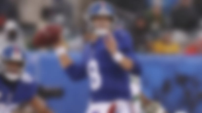 New York Giants quarterback Daniel Jones (8) makes a pass during the first half of an NFL football game against the Green Bay Packers, Sunday, Dec. 1, 2019, in East Rutherford, N.J. The Green Bay Packers won 31-13. (AP Photo/Steve Luciano)