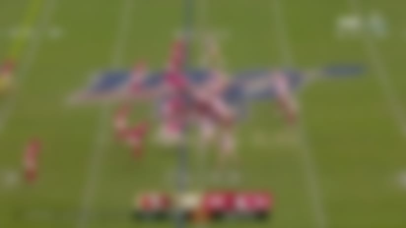 Jimmy G overthrows Sanders deep downfield in fourth quarter