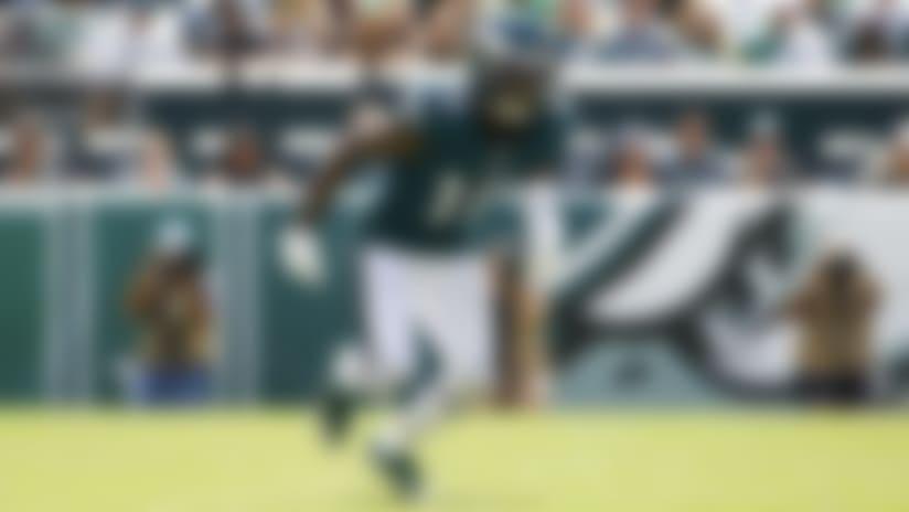 Philadelphia Eagles wide receiver DeSean Jackson in action during an NFL football game against the Washington Redskins, Sunday, Sept. 8, 2019, in Philadelphia. (AP Photo/Matt Rourke)