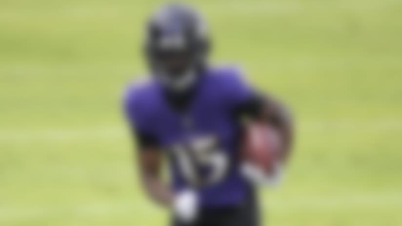 Baltimore Ravens #15 Marquise Brown Draft Game Jersey - Black
