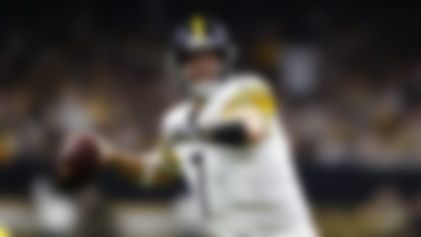 Pittsburgh Steelers quarterback Ben Roethlisberger (7) looks to pass during a regular season Week 16 NFL football game between the Pittsburgh Steelers and the New Orleans Saints in New Orleans on Sunday, Dec. 23, 2018. The Saints beat the Steelers 31-28. (Matt Patterson via AP)
