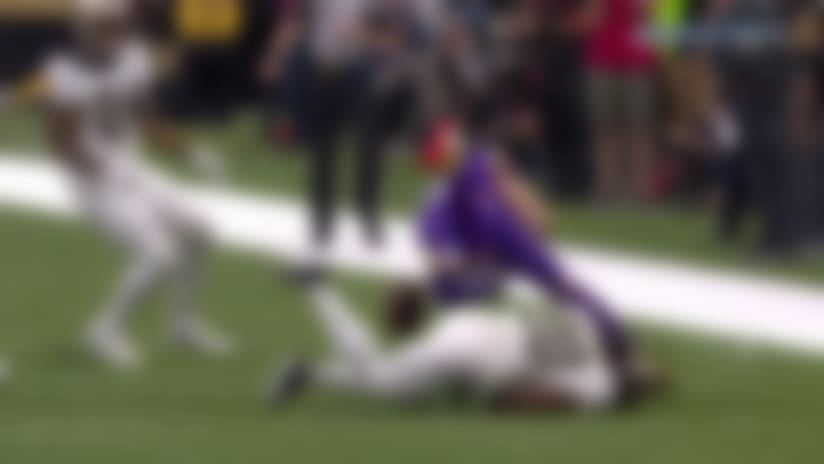 Vonn Bell scoops Adam Thielen's fumble for early Saints turnover