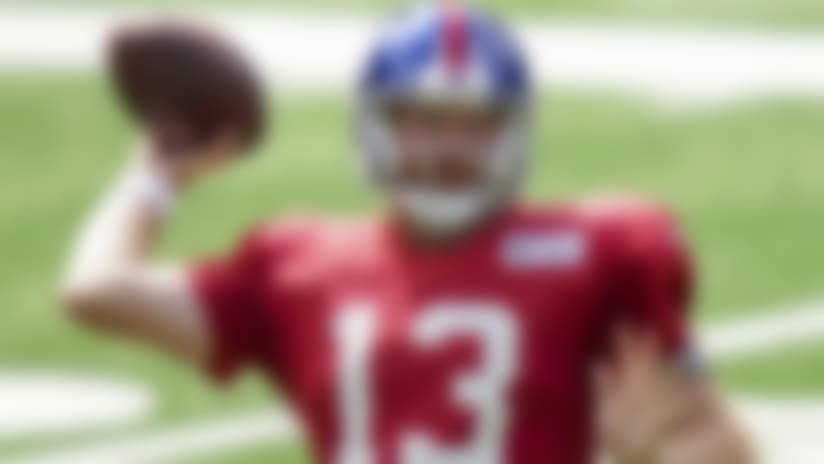 New York Giants quarterback Cooper Rush passes during a scrimmage at the NFL football team's training camp, Thursday, Sept. 3, 2020, in East Rutherford, N.J. (AP Photo/John Minchillo)