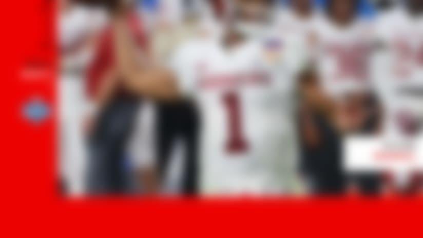 Kyler-Murray mock draft logo with the Raiders