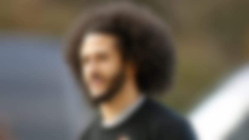 FILE - In this Nov. 16, 2019, file photo, free agent quarterback Colin Kaepernick arrives for a workout for NFL football scouts and media in Riverdale, Ga. Kaepernick has been a leader in the fight for social justice by people of color not just in the football world or the sports world. Recent developments have raised his profile and, more significantly, reminded many of the sacrifices he has made while protesting social injustice and police brutality.(AP Photo/Todd Kirkland, File)