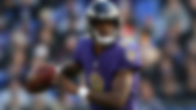 Baltimore Ravens quarterback Lamar Jackson rushes the ball in the first half of an NFL football game against the Oakland Raiders, Sunday, Nov. 25, 2018, in Baltimore. (AP Photo/Gail Burton)