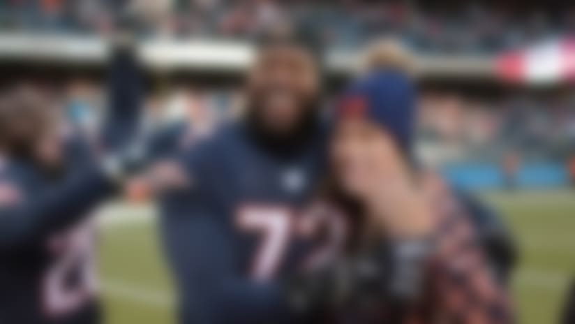 Chicago Bears offensive tackle Charles Leno Jr. proposed to his girlfriend after Bears' win over Green Bay Packers