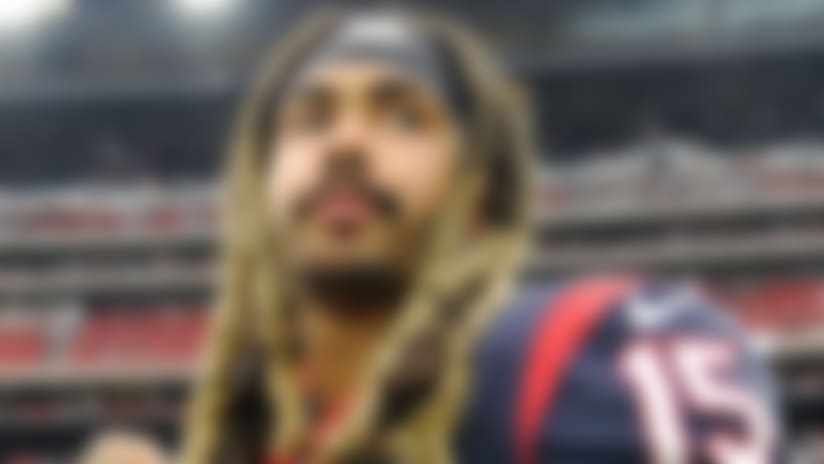 Houston Texans wide receiver Will Fuller (15) following an NFL football game against the Atlanta Falcons Sunday, Oct. 6, 2019, in Houston. (AP Photo/Eric Christian Smith)