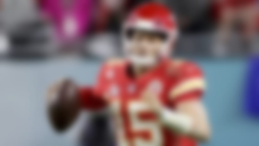 Kansas City Chiefs quarterback Patrick Mahomes (15) runs against the San Francisco 49ers at Super Bowl 54 on Feb. 2, 2020, in Miami Gardens, Fla. The Chiefs won the game 31-20. (AP Photo/Gregory Payan)