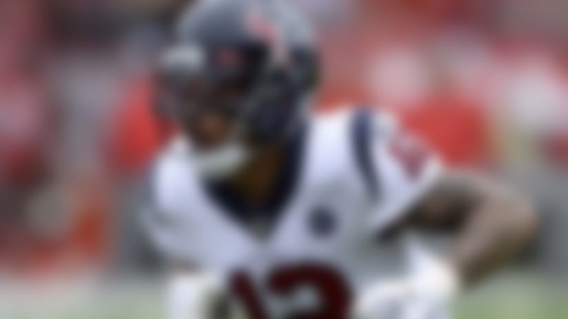 Houston Texans wide receiver Kenny Stills (12) runs a route against the Tampa Bay Buccaneers during the first half of an NFL football game Saturday, Dec. 21, 2019, in Tampa, Fla. (AP Photo/Jason Behnken)