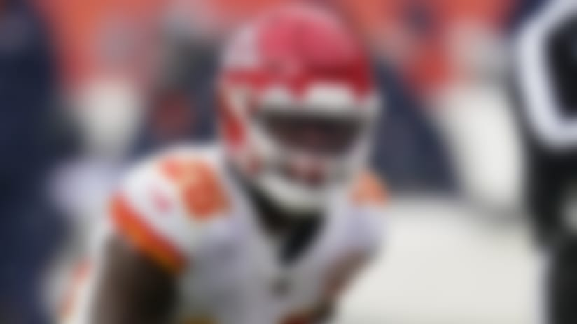 Kansas City Chiefs running back Le'Veon Bell runs with the ball during the second half of an NFL football game against the Denver Broncos, Sunday, Oct. 25, 2020, in Denver. (AP Photo/David Zalubowski)