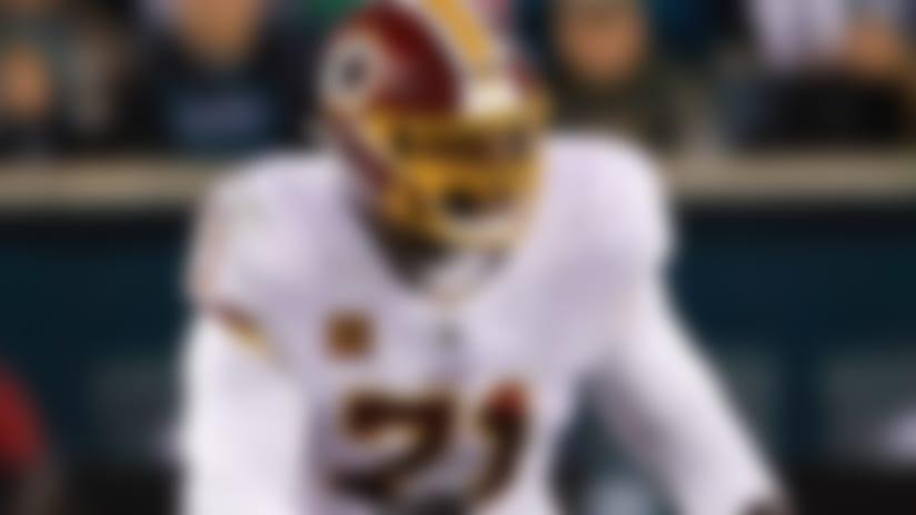 Washington Redskins offensive tackle Trent Williams (71) blocks Philadelphia Eagles defensive end Brandon Graham (55) during a week 13 NFL football game on Monday, Dec. 3, 2018 in Philadelphia. Philadelphia won 28-13. (Aaron M. Sprecher via AP)