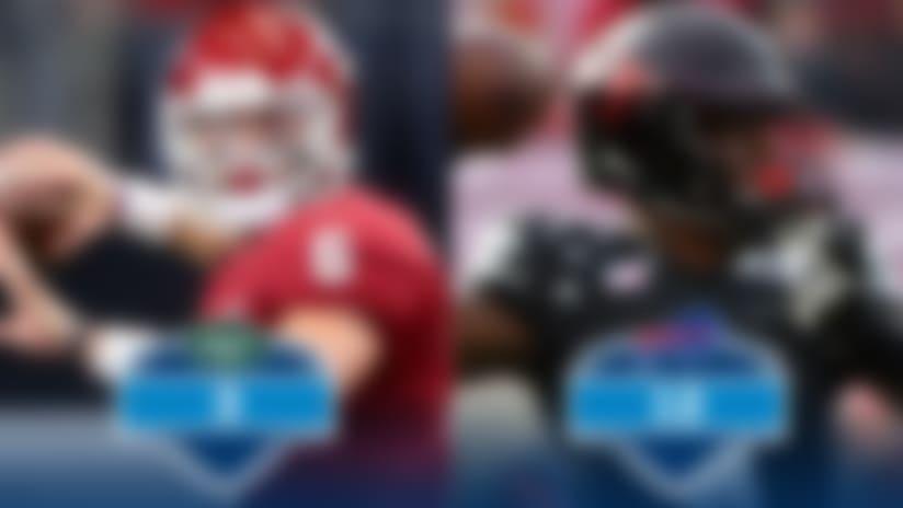3. Jets: Oklahoma QB Baker Mayfield 12. Bills: Louisville QB Lamar Jackson