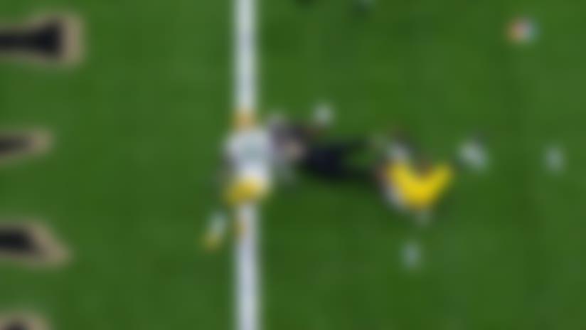 Alvin Kamara stretches across goal line for Saints' opening TD