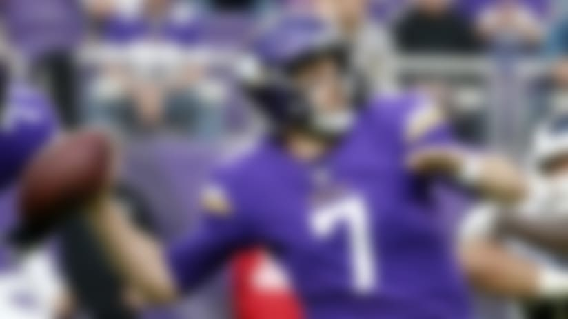 Minnesota Vikings quarterback Case Keenum throws a pass.
