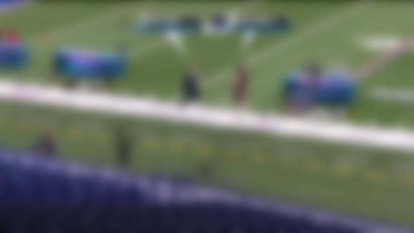 Simulcam: Rich Eisen vs. slowest 40-yard dash runner at 2020 combine