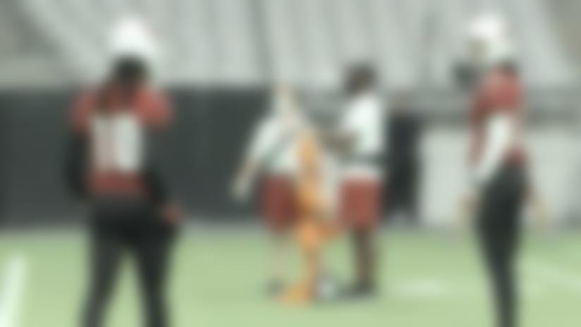 Watch: D-Hop, Fitzgerald catch passes from Kyler Murray