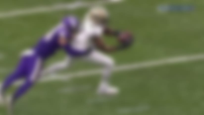 He went to Jared! Brees hits Cook for twisting third-down grab