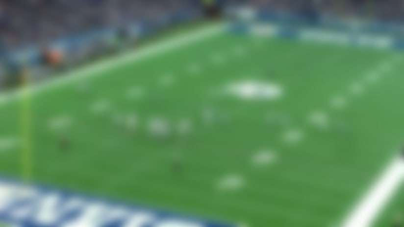 Watch aerial footage of Indianapolis Colts defensive lineman Margus Hunt batting down pass attempt   True View