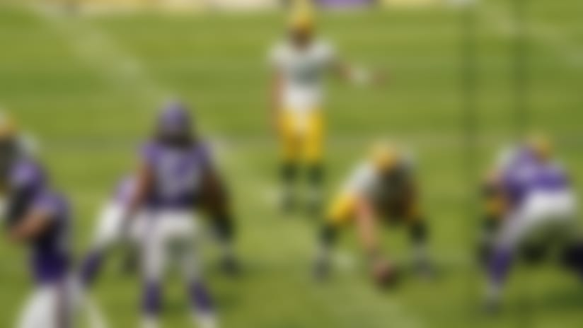 Green Bay Packers quarterback Aaron Rodgers (12) calls a play during the first half of an NFL football game against the Minnesota Vikings, Sunday, Sept. 13, 2020, in Minneapolis. (AP Photo/Jim Mone)