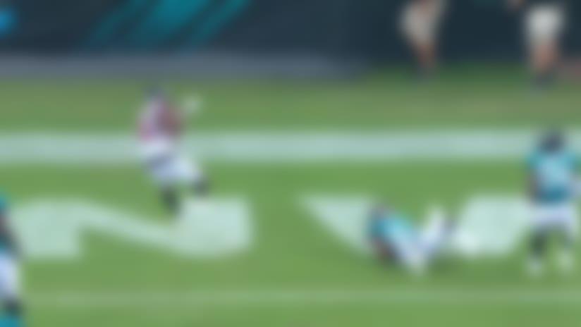 Tony Brooks-James cuts through Jaguars defense for 15-yard TD