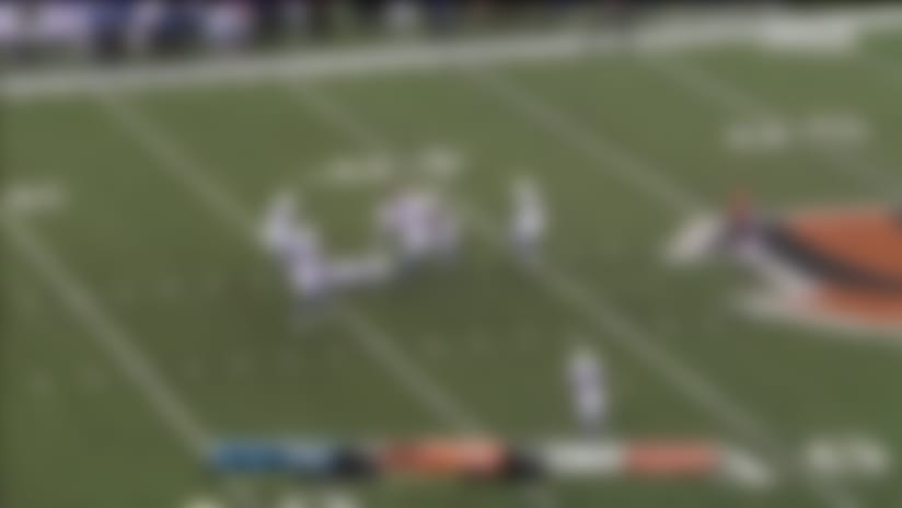 Josh Malone goes up and over Colts defender for 21-yard catch