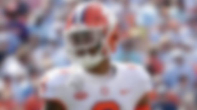 Clemson cornerback A.J. Terrell (8) during the first half of an NCAA college football game against North Carolina in Chapel Hill, N.C., Saturday, Sept. 28, 2019. (AP Photo/Chris Seward)