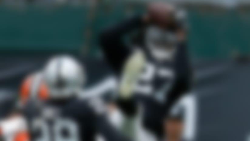 Reggie Nelson intercepts Baker Mayfield deep to force OT